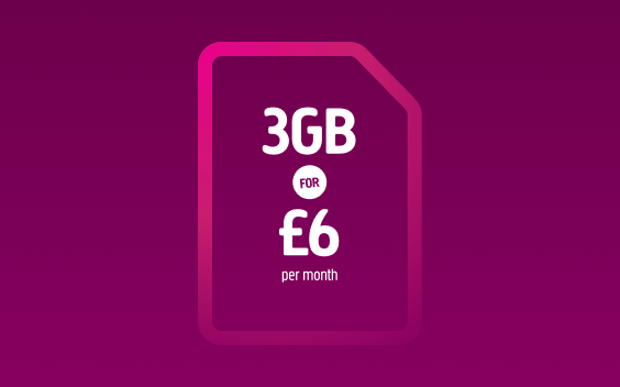 3GB for £6 per month