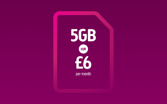 5GB for £6 offer